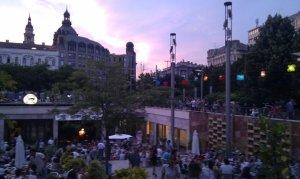 Vibrant central Budapest